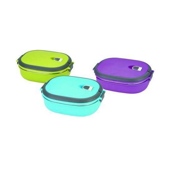 Фото - Вакуумный пищевой термос ланч-бокс 0.9 л овальный купить в киеве на подарок, цена, отзывы