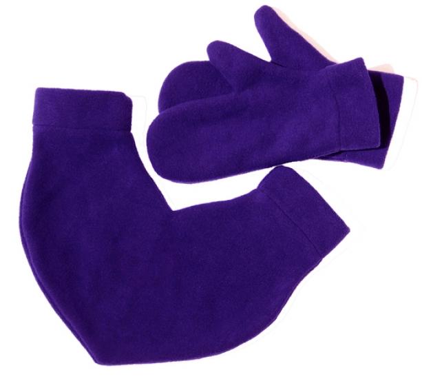 Фото - Варежки для влюбленных фиолетовые купить в киеве на подарок, цена, отзывы