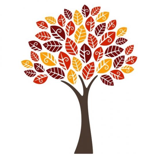 Фото - Виниловая Наклейка Autumn Tree купить в киеве на подарок, цена, отзывы