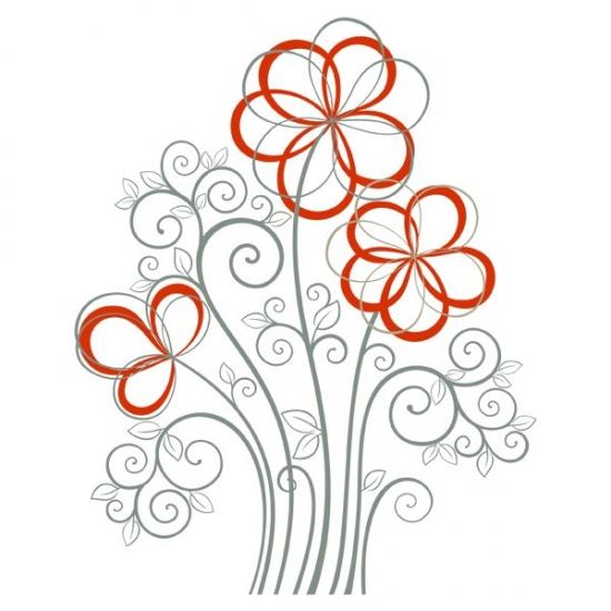 Фото - Виниловая Наклейка Flowers купить в киеве на подарок, цена, отзывы