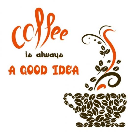 Фото - Виниловый Стикер Coffee a  Good Idea купить в киеве на подарок, цена, отзывы