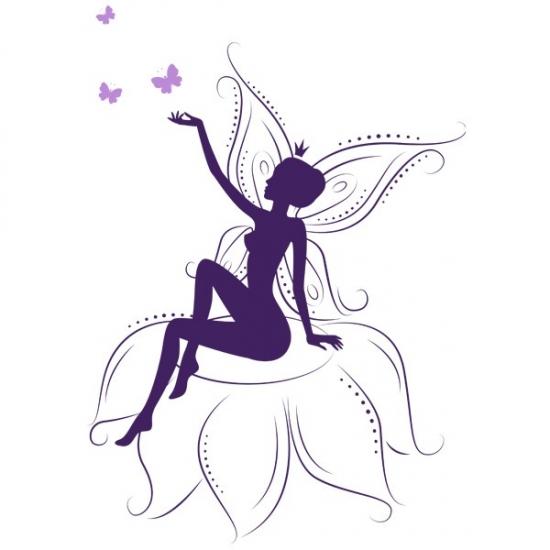 Фото - Виниловый Стикер Fairy on Flowers купить в киеве на подарок, цена, отзывы