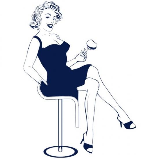 Фото - Виниловый Стикер Marilyn  купить в киеве на подарок, цена, отзывы
