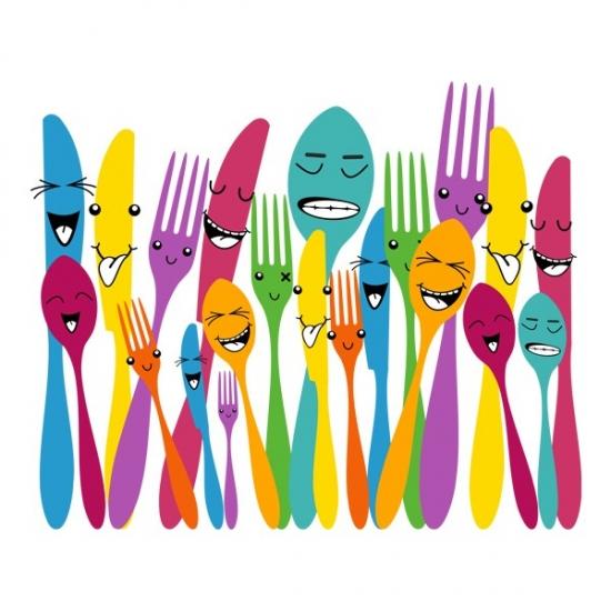 Фото - Виниловый Стикер Spoon and Forks купить в киеве на подарок, цена, отзывы