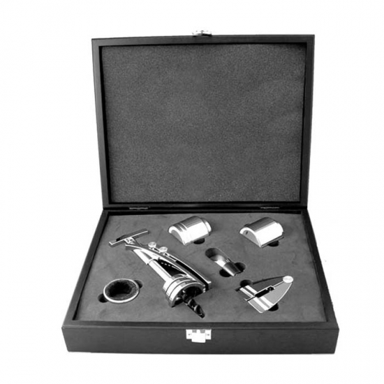 Фото - Винный набор в черном кейсе  купить в киеве на подарок, цена, отзывы