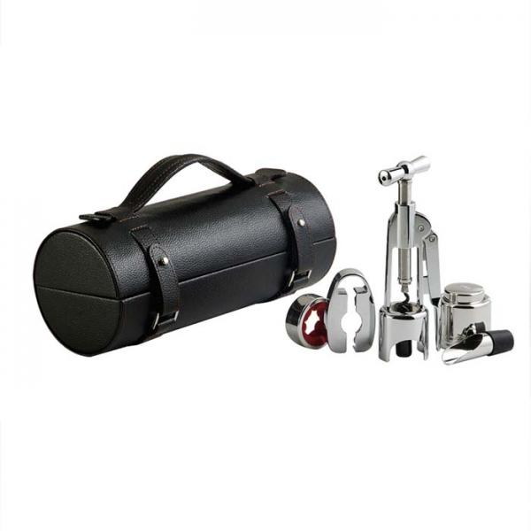 Фото - Винный набор в черном тубусе  купить в киеве на подарок, цена, отзывы