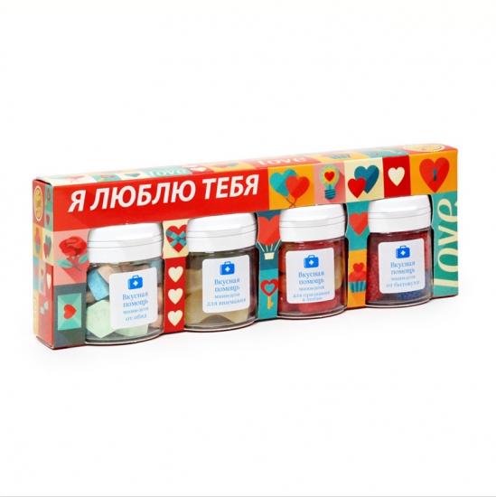 Фото - Вкусная помощь Я Тебя Люблю Набор из 4х Сладких Мини Доз купить в киеве на подарок, цена, отзывы