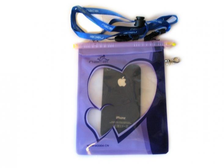 Фото - Водонепроницаемый чехол для документов и телефона фиолет купить в киеве на подарок, цена, отзывы
