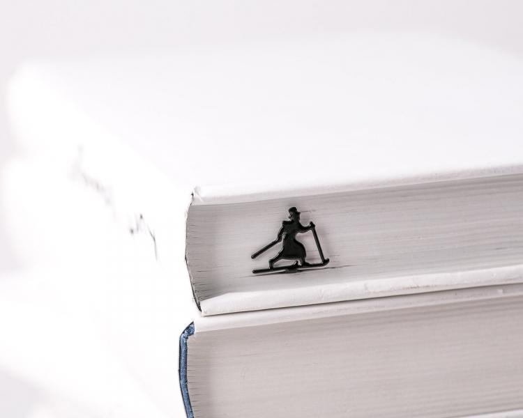 Фото - Закладка Бегущий на лыжах купить в киеве на подарок, цена, отзывы