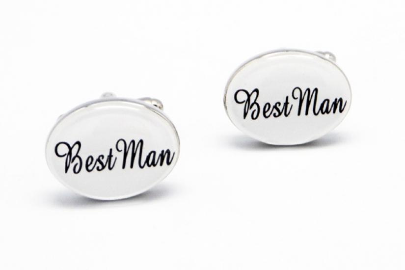 Фото - Запонки Best man  white купить в киеве на подарок, цена, отзывы