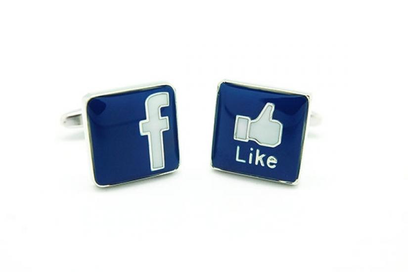 Фото - Запонки Фейсбук купить в киеве на подарок, цена, отзывы