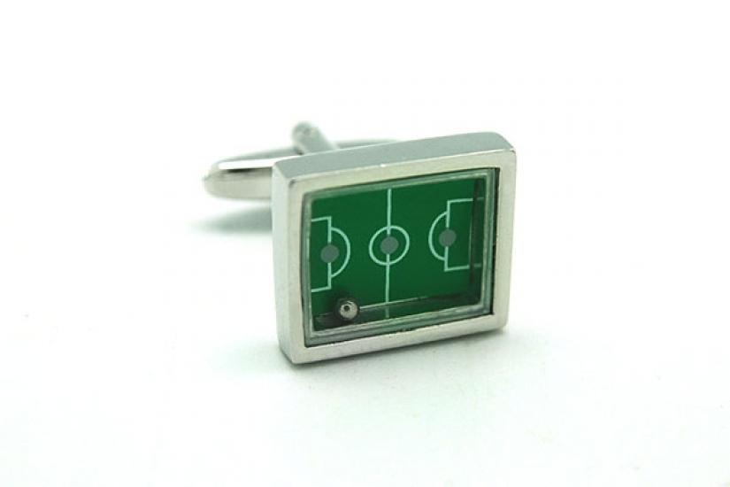Фото - Запонки Футбольное поле зеленое купить в киеве на подарок, цена, отзывы
