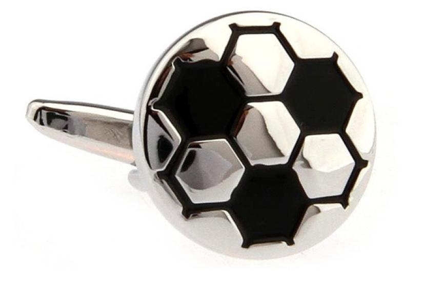 Фото - Запонки Футбольный мяч white купить в киеве на подарок, цена, отзывы