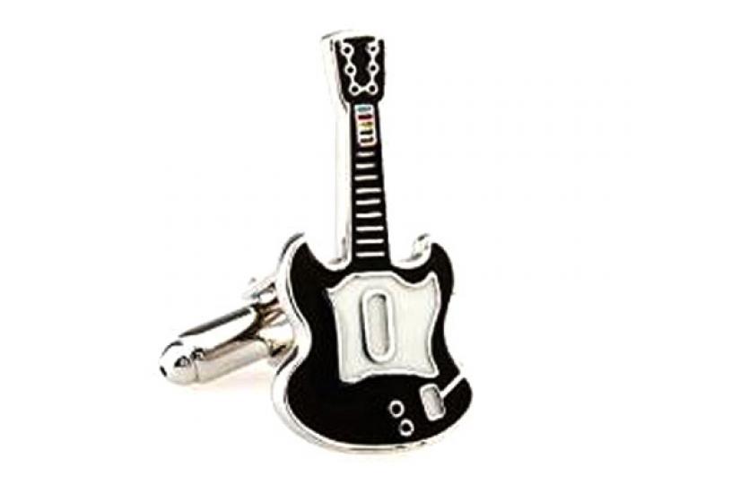 Фото - Запонки Гитара black купить в киеве на подарок, цена, отзывы