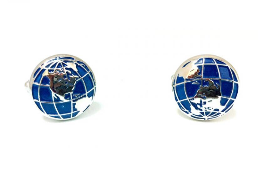 Фото - Запонки Глобус купить в киеве на подарок, цена, отзывы