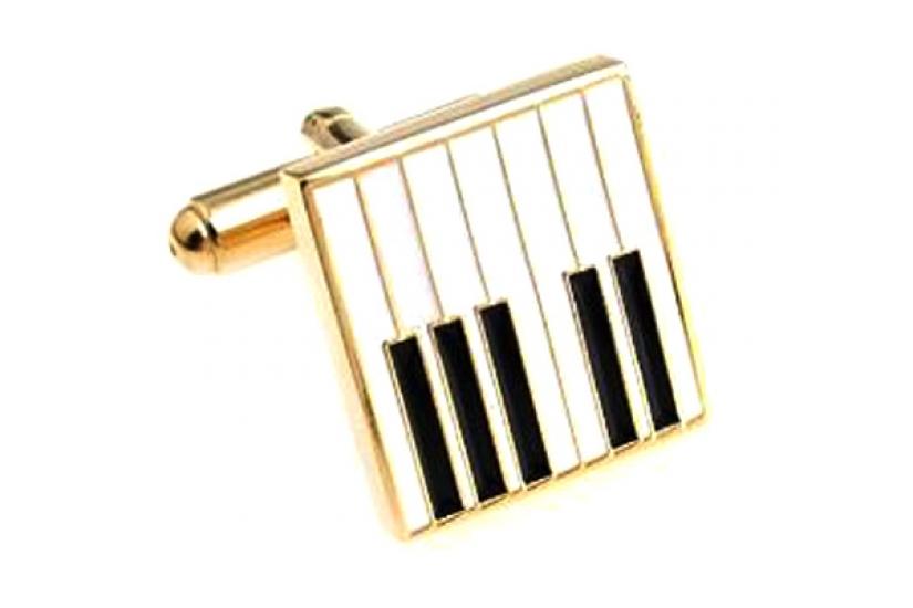 Фото - Запонки Клавиши рояля gold купить в киеве на подарок, цена, отзывы