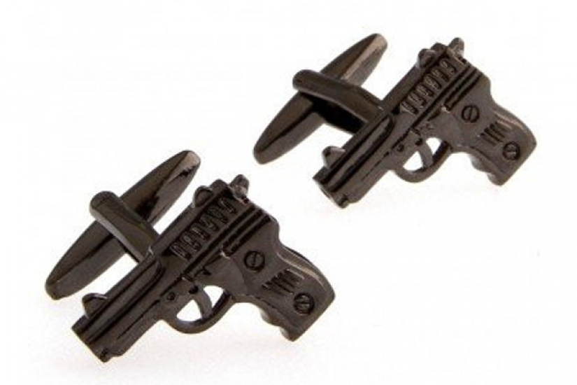 Фото - Запонки Пистолет купить в киеве на подарок, цена, отзывы