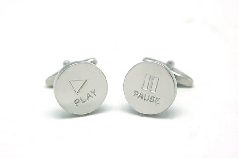 Фото - Запонки Play Pause купить в киеве на подарок, цена, отзывы