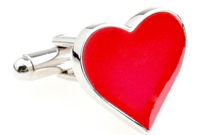 Фото - Запонки Сердце купить в киеве на подарок, цена, отзывы