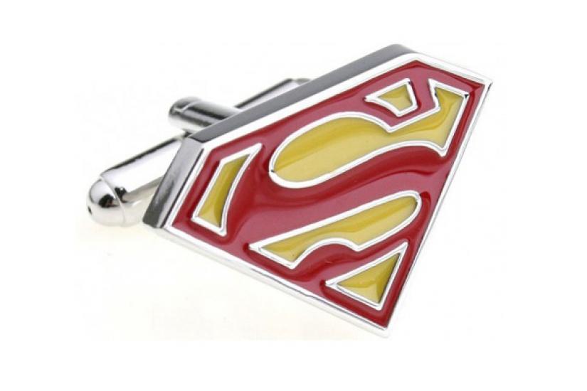 Фото - Запонки Superman yellow купить в киеве на подарок, цена, отзывы
