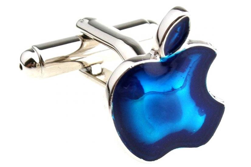 Фото - Запонки Яблоко синее купить в киеве на подарок, цена, отзывы