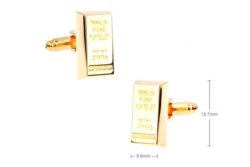 Фото - Запонки Золотой слиток  купить в киеве на подарок, цена, отзывы