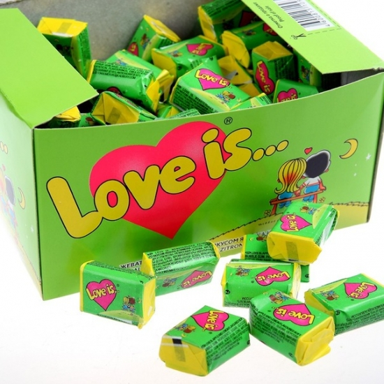 Фото - Жвачка Love is ... Яблоко-Лимон 50 шт купить в киеве на подарок, цена, отзывы