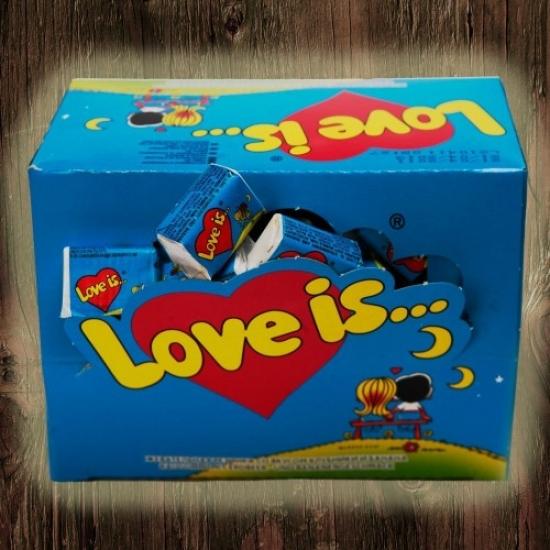 Фото - Жвачки Love is...Банан-Клубника 50 шт купить в киеве на подарок, цена, отзывы