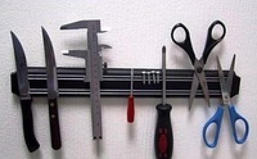 Фото - Магнитная рейка для ножей, инструментов 33см купить в киеве на подарок, цена, отзывы