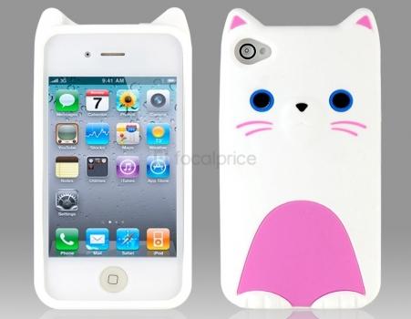 Фото - Защитный Чехол Iphone 4,4S Mycomo Котик купить в киеве на подарок, цена, отзывы