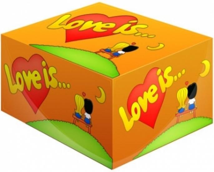 Фото - Блок жвачек Love is... Апельсин купить в киеве на подарок, цена, отзывы