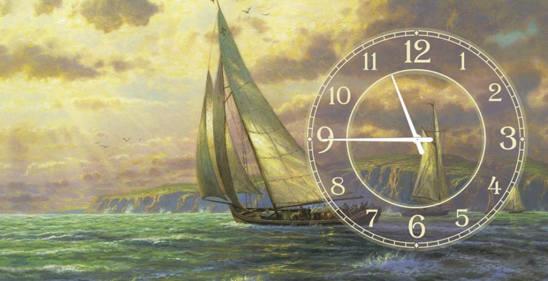 Фото - Часы на холсте Лондон 25х25 купить в киеве на подарок, цена, отзывы