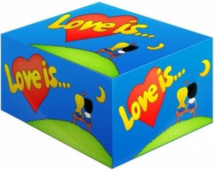 Фото - Блок жвачек Love is...Банан-Клубника купить в киеве на подарок, цена, отзывы