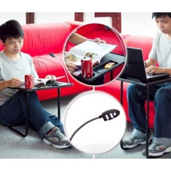 Фото - Складной стол с лампой Мy Вedside Тable купить в киеве на подарок, цена, отзывы