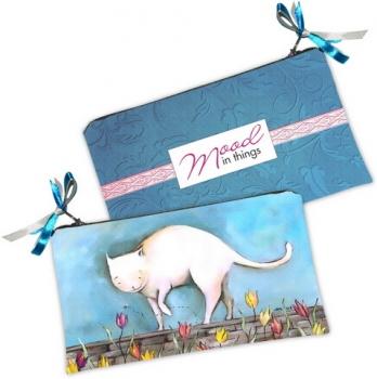 Фото - Косметичка-кошелек Кот голубой купить в киеве на подарок, цена, отзывы