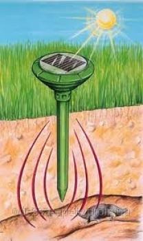 Фото - Отпугиватель грызунов (кротов) на солнечной батарее Solar Rodent Repeller купить в киеве на подарок, цена, отзывы