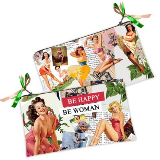Фото - Косметичка-кошелек Be happy - Be woman купить в киеве на подарок, цена, отзывы