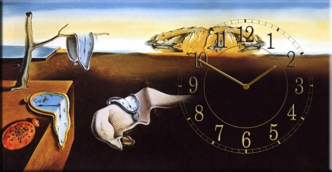 Фото - Часы на холсте Постоянство памяти (Сальвадор Дали) 25х50 купить в киеве на подарок, цена, отзывы
