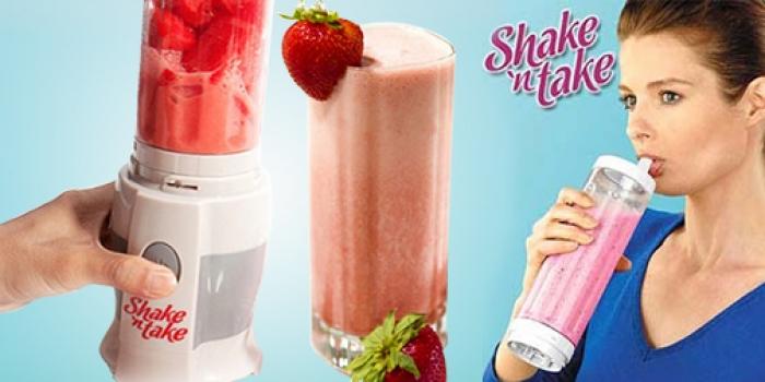 Фото - Блендер для коктейлей Shake and Take купить в киеве на подарок, цена, отзывы