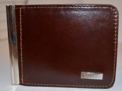 Фото - Зажим для денег с кармашеком для мелочи натуральная кожа №3 купить в киеве на подарок, цена, отзывы