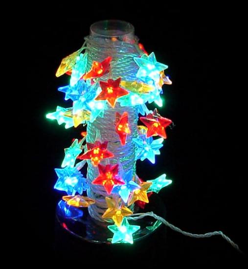 Фото - Гирлянда светодиодная звездочки 38 led купить в киеве на подарок, цена, отзывы