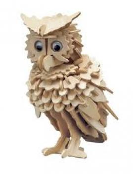 Фото - Сборная деревянная модель Сова(3D пазл) купить в киеве на подарок, цена, отзывы