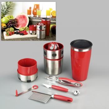 Фото - Ручная соковыжималка Pro V Juicer+ шейкер и набор для украшения блюд купить в киеве на подарок, цена, отзывы