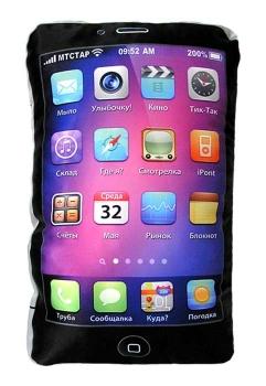 Фото - Подушка Iphone Черная купить в киеве на подарок, цена, отзывы