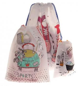 Фото - Набор из 3 дышащих пакетов для пляжных вещиц купить в киеве на подарок, цена, отзывы