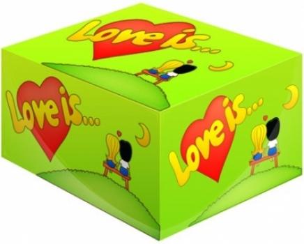 Фото - Жвачка Love is ... Яблоко-Лимон купить в киеве на подарок, цена, отзывы
