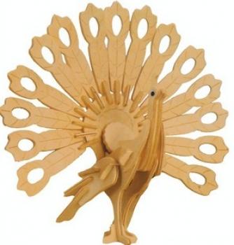 Фото - Сборная деревянная модель Павлин(3D пазл) купить в киеве на подарок, цена, отзывы