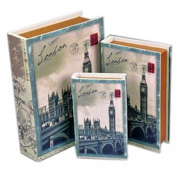 Фото - Книга-шкатулка London 3шт купить в киеве на подарок, цена, отзывы