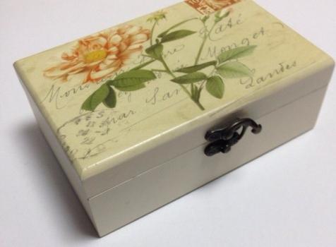 Фото - Шкатулка ретро роза прямоугольная купить в киеве на подарок, цена, отзывы