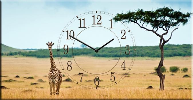 Фото - Часы на холсте Выносливость 25х50 купить в киеве на подарок, цена, отзывы
